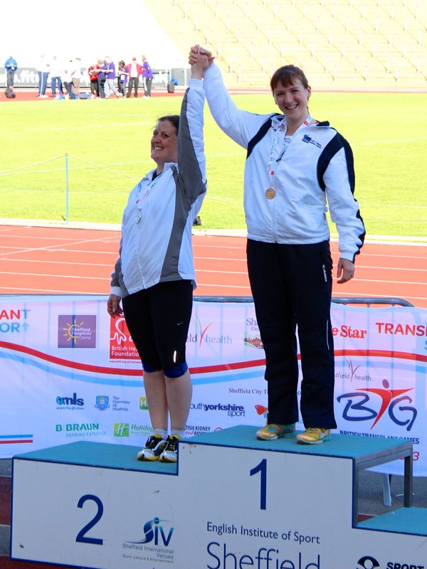 Ruth & I on the podium