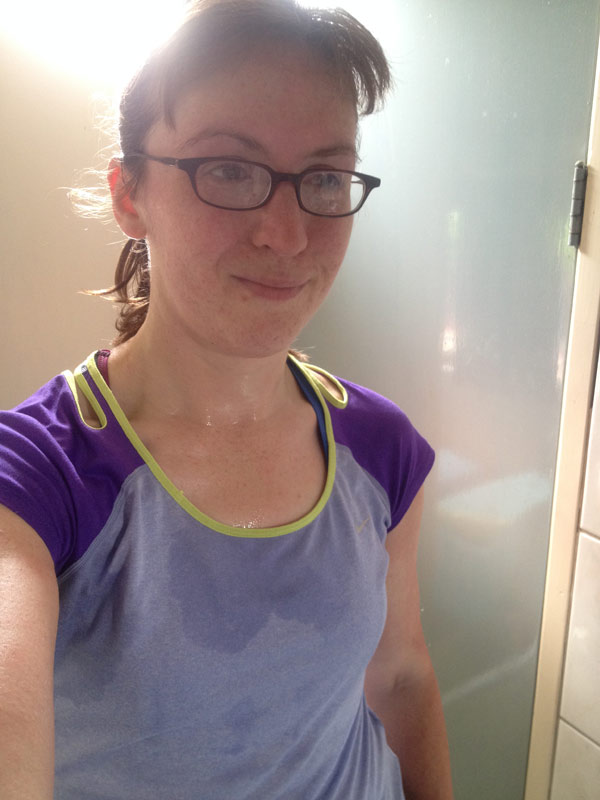 Post run selfie with glasses