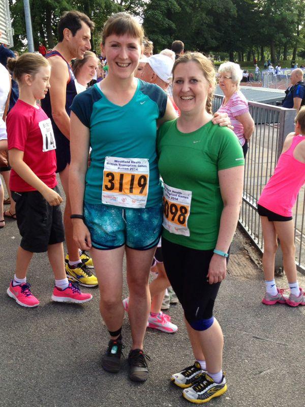 Melissa & Ruth pre Mini Marathon