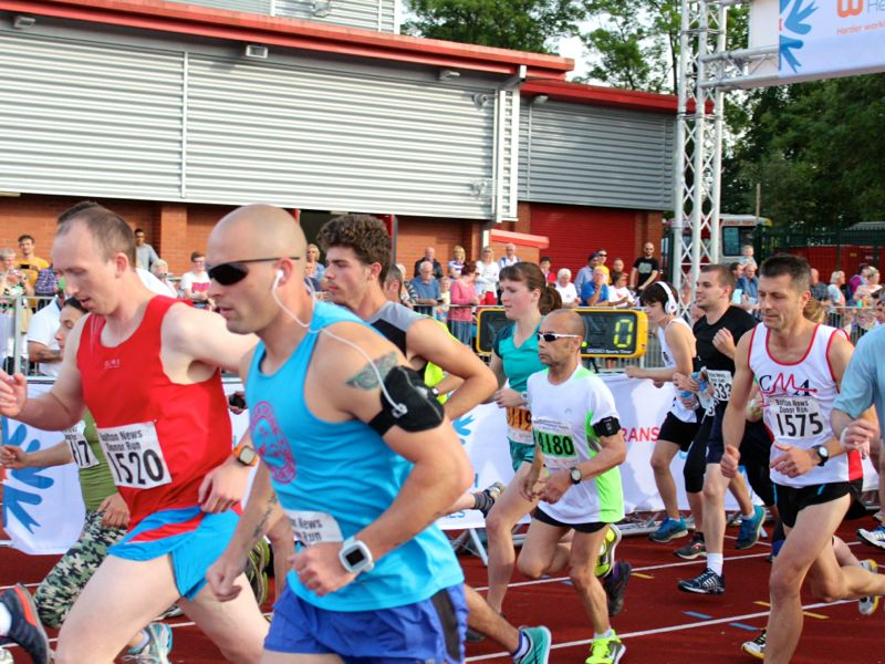 Mini Marathon starting scrum