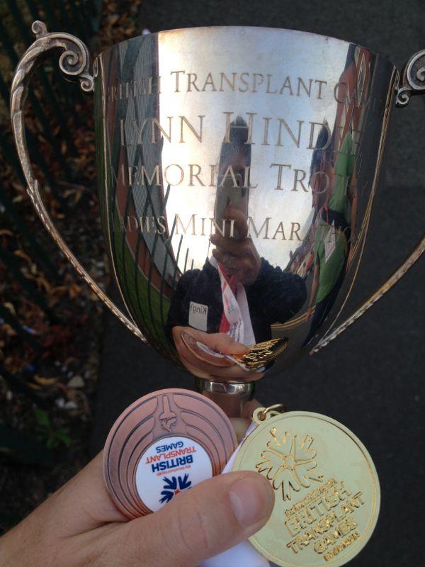 Mini Marathon trophy and medals