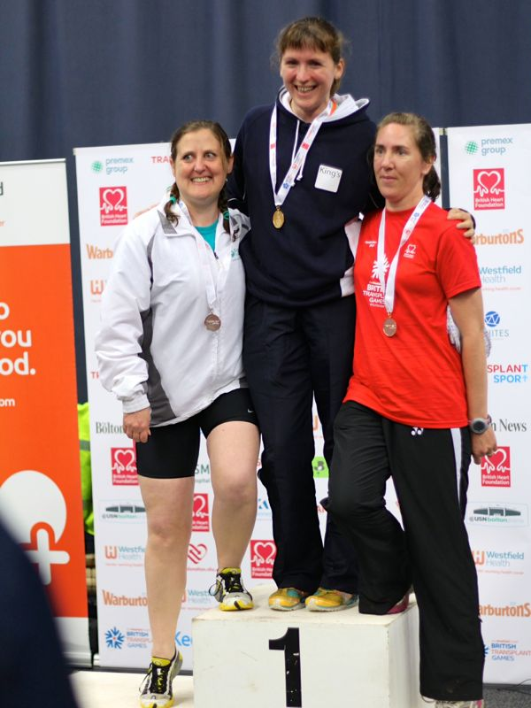 The 1500m medal podium