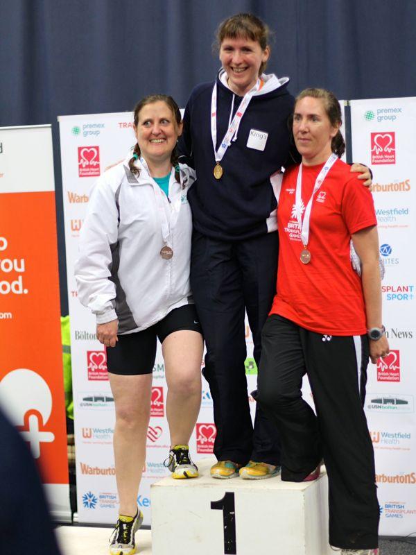 The 1500m medal podium