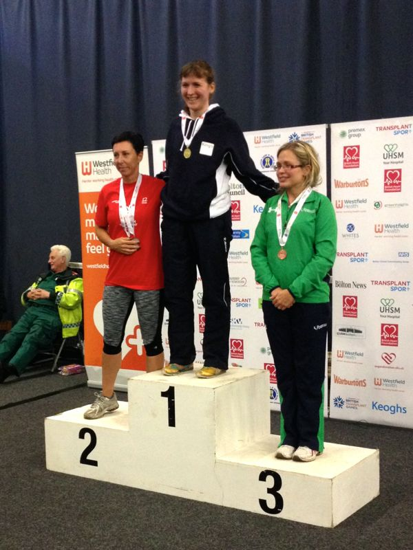 Melissa on the 800m medal podium