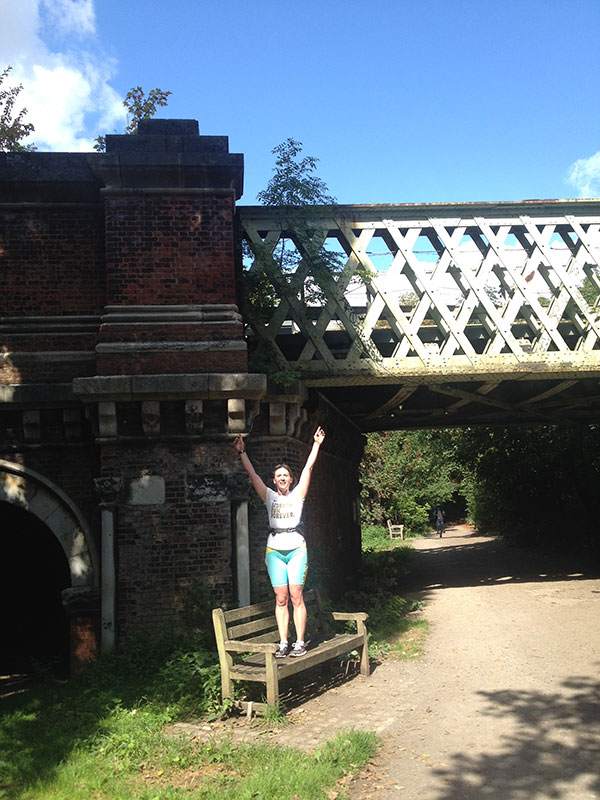 me at Kew Railway Bridge