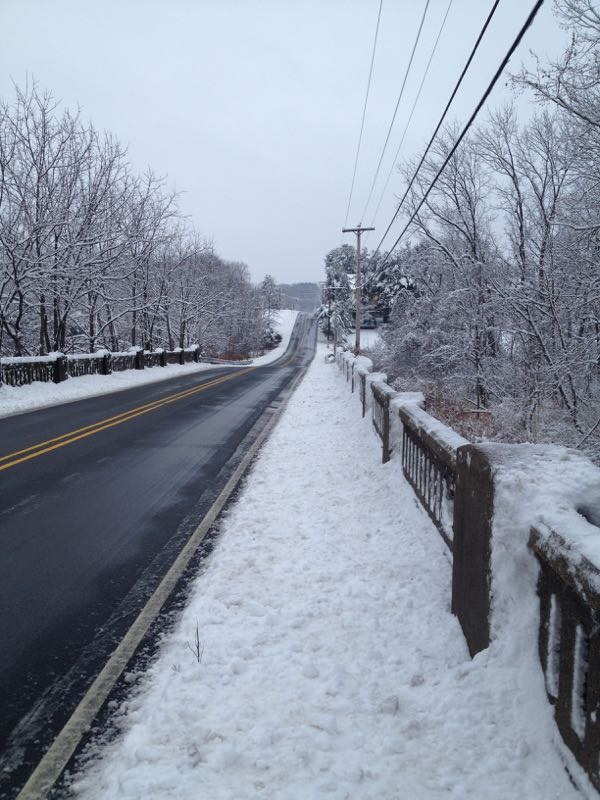 Snow PA road