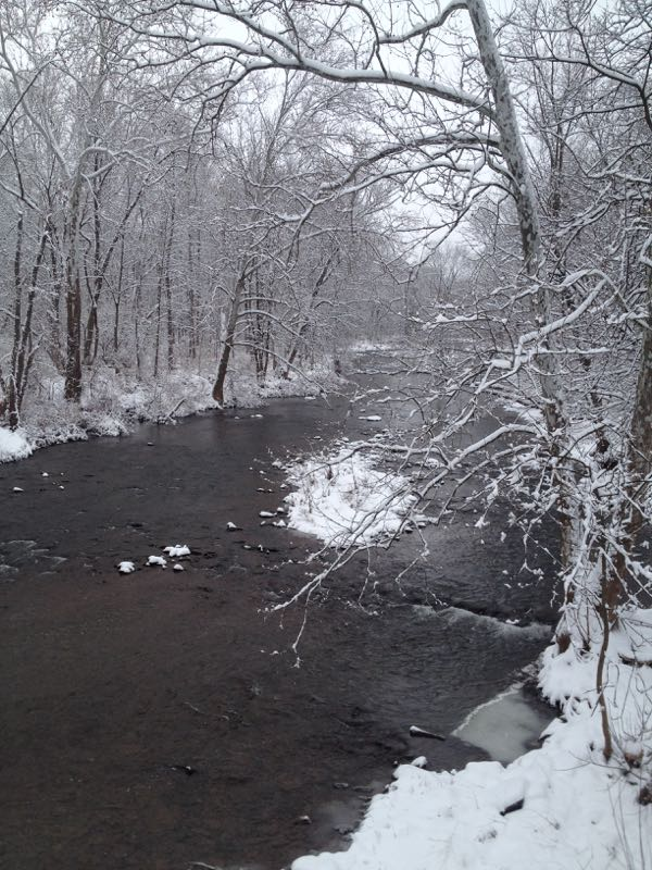 Snowy PA creek