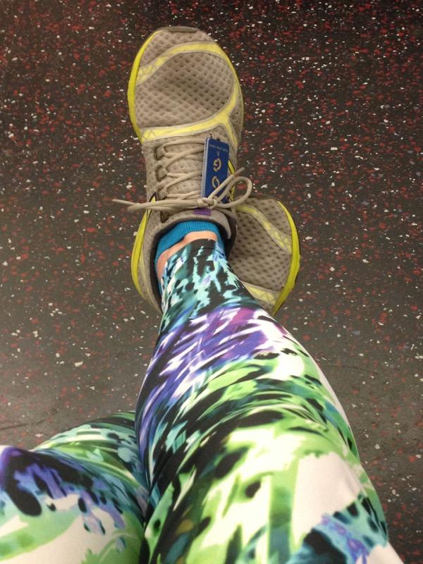 Post run legs