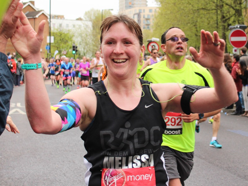 London Marathon - Mile 12 high five