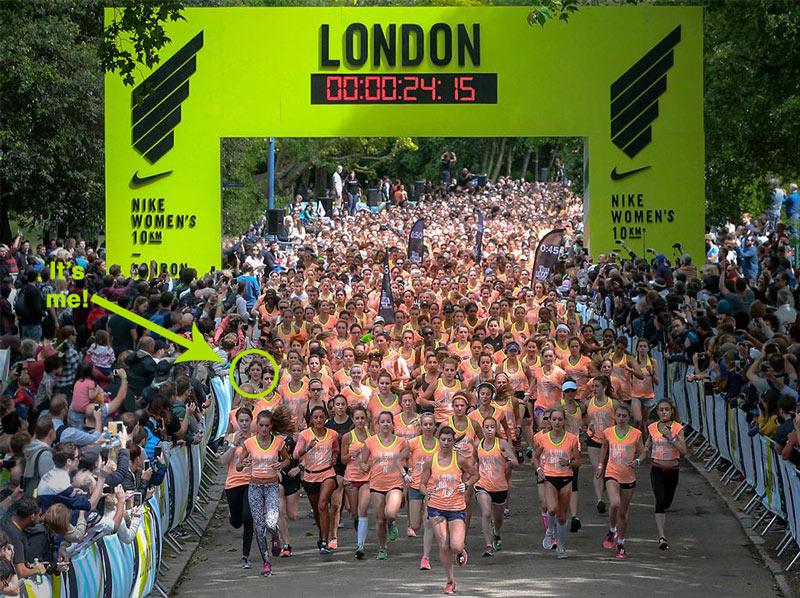 Nike Women's 10k starting line