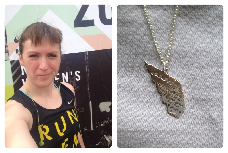 Nike Women's 10k - selfie and necklace