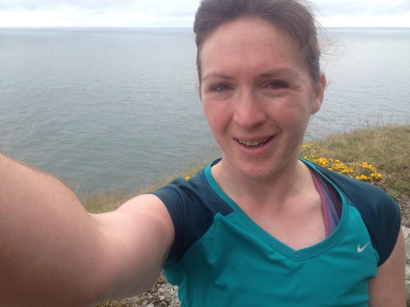 The Great Orme - running selfie