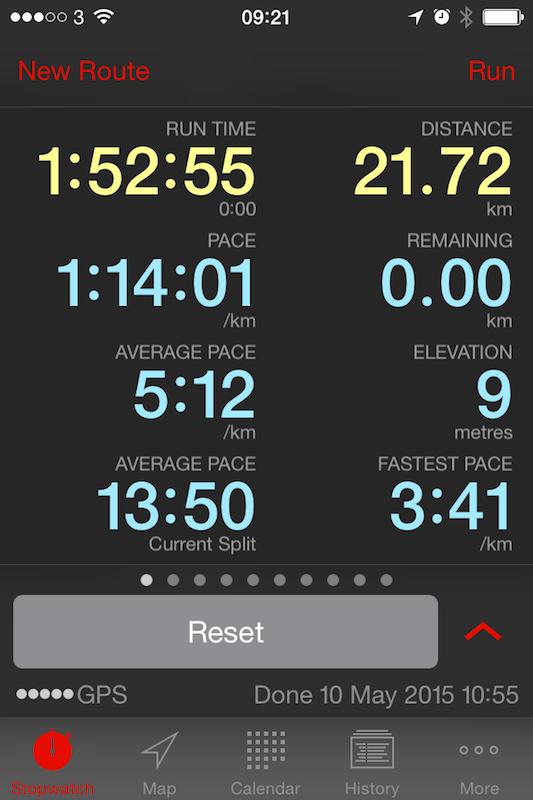 My Runmeter app