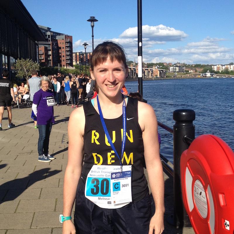 Melissa before the mini marathon start