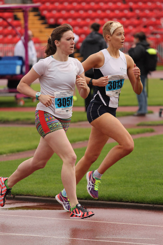 Myself and Orla racing the 1500m