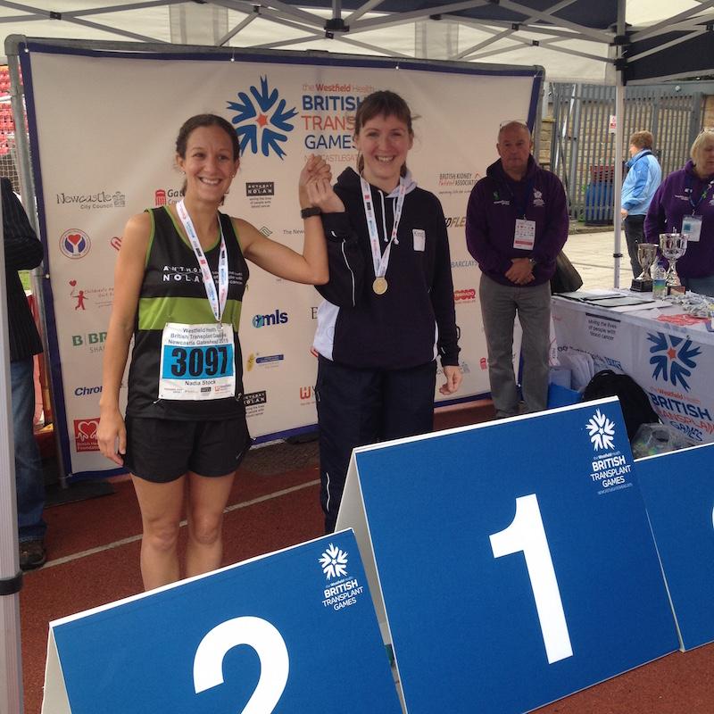 Nadia and I on the 1500m podium