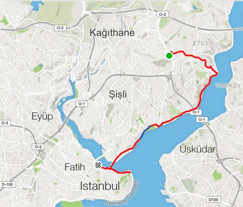 Istanbul run map