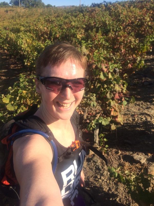 Melissa in vineyards