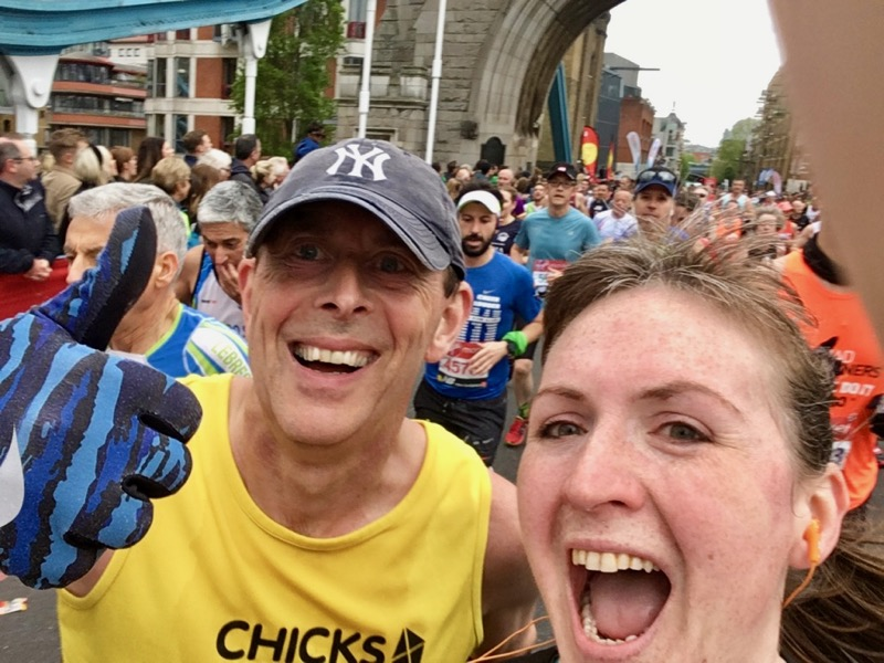Tower Bridge selfie with Mark