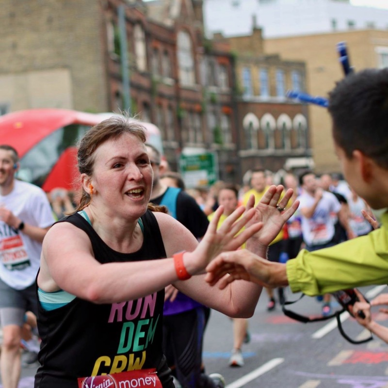 High five at Mile 21