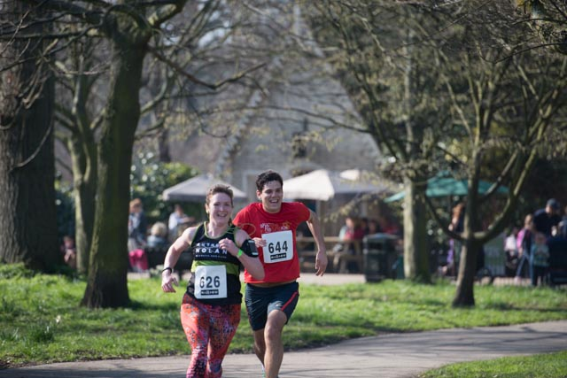 Marrowthon sprint finish